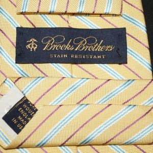Brooks Brothers Tie Yellow Blue Purple White Diago